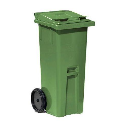 Array Zielony kontener na odpadki o poj. 140 l - 480x540x1060mm