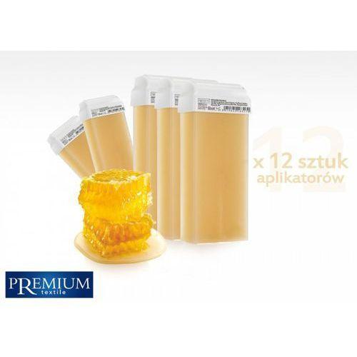 Premium textile Zestaw gabinetowy woski do depilacji miele z szeroką rolką 80ml x 12 szt