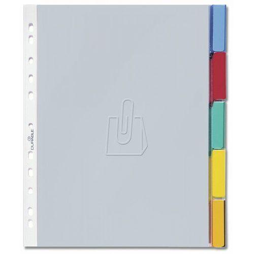 Przekładki A4 kolorowe zgrzane indeksy 5 części 663019