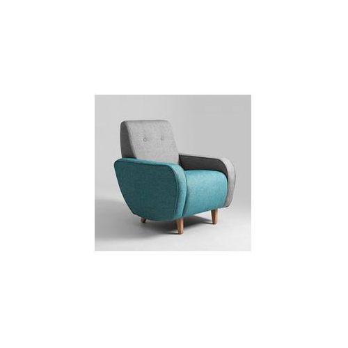 Customform Fotel dwukolorowy tapicerowany panda- różne kolory tapicerki