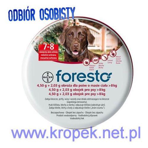 BAYER FORESTO Obroża przeciw pchłom i kleszczom dla psów o wadze powyżej 8 kg ze sklepu KROPEK
