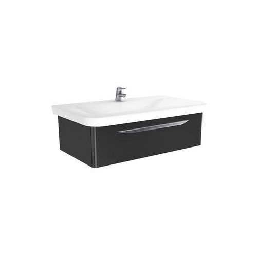 New trendy sfero szafka wisząca + umywalka antracyt połysk 90 cm ml-9195
