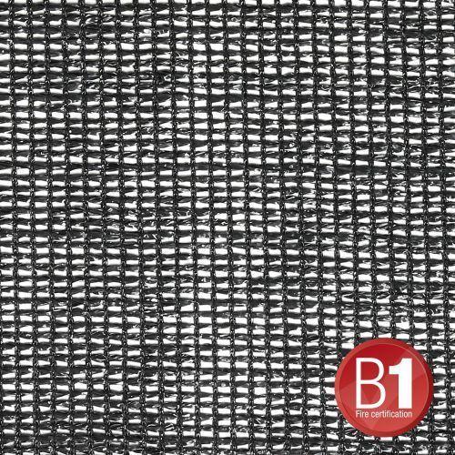 Adam hall 0157 x 45 b - gaza typu 202, 4 x 5 m, z oczkami, czarna
