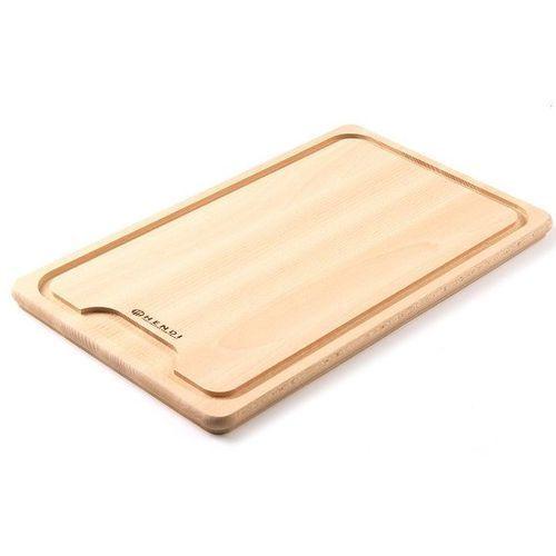 Drewniana deska z wycięciem do krojenia mięsa | 390x230mm marki Hendi