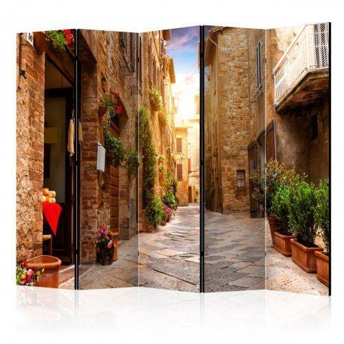 Parawan 5-częściowy - Kolorowa uliczka w Toskanii II [Room Dividers], A0-PARAVENT622 (7810268)