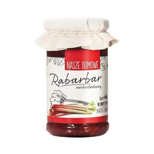 Nasze domowe 240g rabarbar konfitura niskosłodzona marki Premium rosa