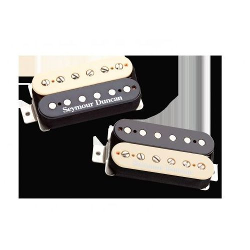 Seymour duncan sh pg 1s zeb pearly gates, przetworniki do gitary typu humbucker set, kolor ′′zebra′′