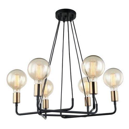 Italux Lampa wisząca betty mdm-3901/6 bk+bro - - rabat w koszyku (5900644439844)
