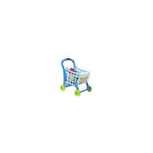 Wózek na zakupy dla dzieci do zabawy z akcesoriami SUPERMARKET, wózek na zakupy MalPlay