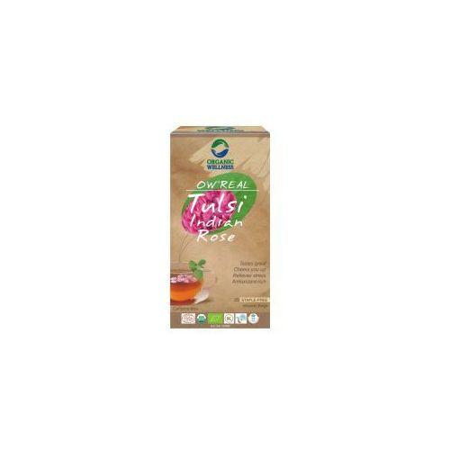Herbata tulsi indian rose ow indie saszetki 25szt. marki Organic wellness