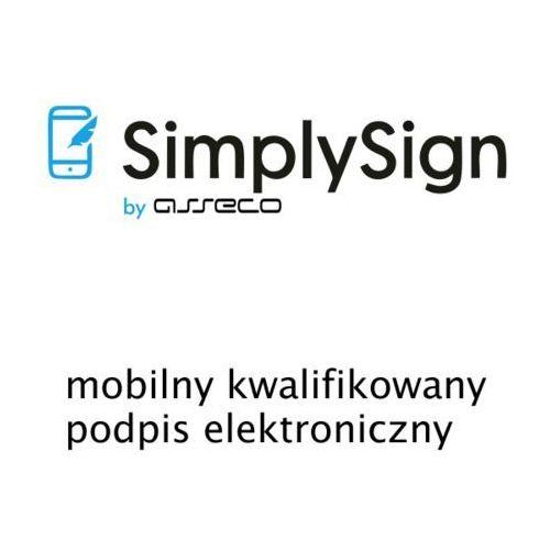 Asseco data systems s.a. Simplysign - mobilny kwalifikowany podpis elektroniczny - odnowienie - 2 lata