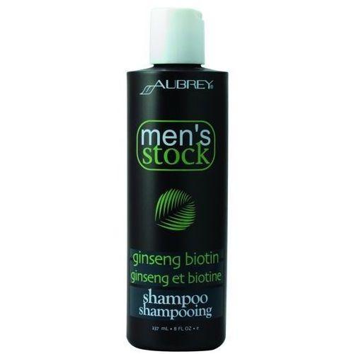 Aubrey Men's stock krok 1 szampon do włosów z żeń-szeniem i biotyną dla mężczyzn 237ml