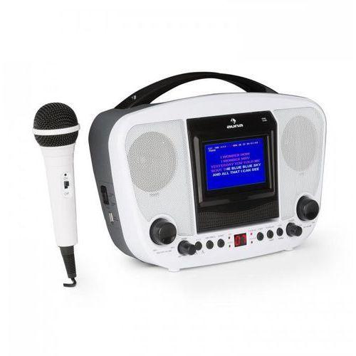 """Auna Karabanga zestaw karaoke mikrofon wyświetlacz tft 4,3"""" bluetooth biały"""