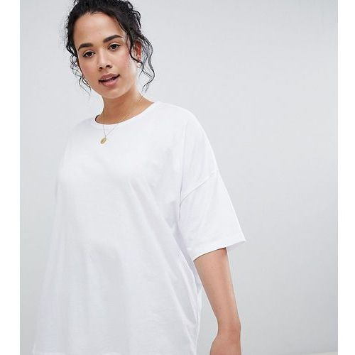 Asos design curve super oversized t-shirt with drop shoulder in white - white marki Asos curve