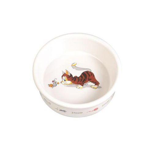 TRIXIE miska ceramiczna dla kota z motywem 0,2l