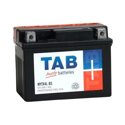 Akumulator motocyklowy ytx4l-bs (mytx4l-bs) 12v 3ah 40a p+ marki Tab