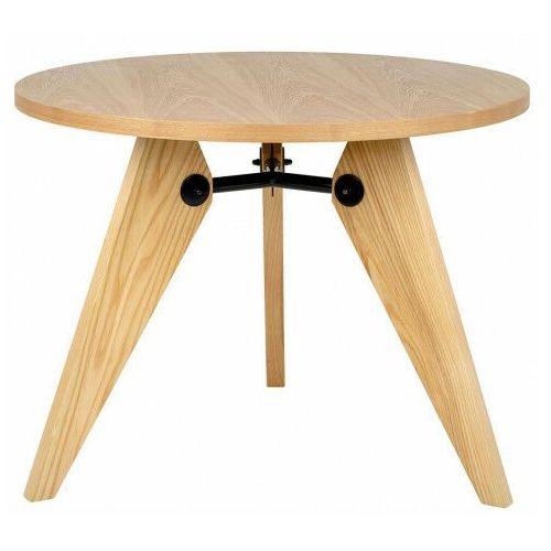 Okrągły stół do salonu z litego drewna jesionowego - jupito 3x marki Elior