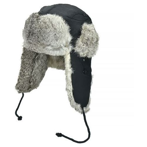 Fox outdoor czapka uszatka czarna - czarny
