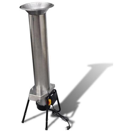 vidaXL Elektryczna prasa do owoców ze stali nierdzewnej srebrna (8718475878728)