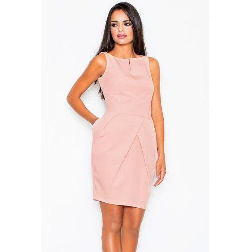 Figl 243 sukienka, kolor różowy