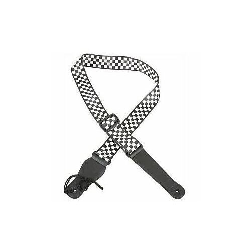 Pas do gitary Chord STP-CHQ Pasek gitarowy Black + White Chequered (5015972057339)