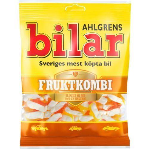 Ahlgrens bilar - Fruktkombi - pianki w ksztalcie samochodów owocowe - 125g - ze Szwecji
