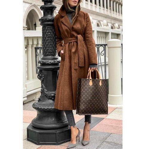 Płaszcz damski LINESA BROWN, w 4 rozmiarach
