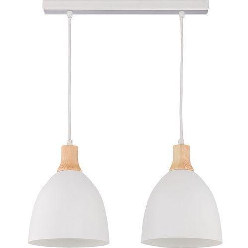 Lampa wisząca leo 2 z białymi kloszami metal marki Sigma