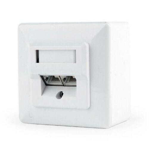 Gniazdo natynkowe mws-2s6-01 stp dwuportowe kat. 6 (białe) marki Gembird