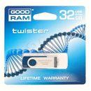 Produkt z kategorii- pendrive - GOODDRIVE FLASHDRIVE 32GB USB 2.0 TWISTER Blue