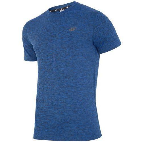 Męska koszulka h4z18 tsmf001 niebieski melanż xxl marki 4f
