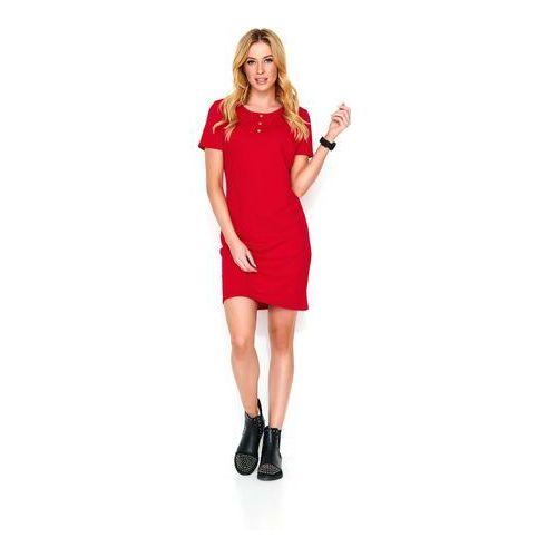 4445edbe3d Czerwona dzianinowa sukienka na wiosnę   lato
