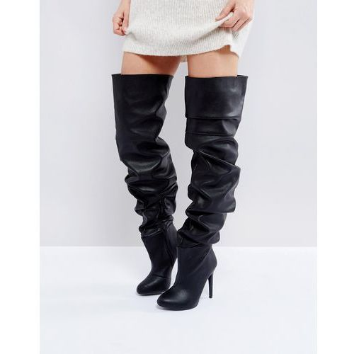 black slouch over the knee boots - black, Public desire