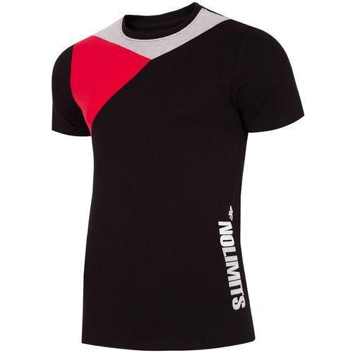 Koszulka męska h4l18 tsm016 czarny l marki 4f