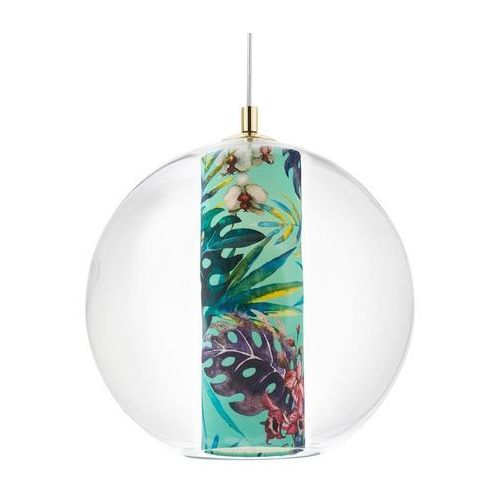 Kaspa - Lampa wisząca Feria L, zielona - zielony ||złoty (5902047305283)
