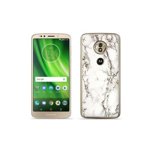 etuo Fantastic Case - Motorola Moto G6 Play - etui na telefon Fantastic Case - biały marmur, kolor biały