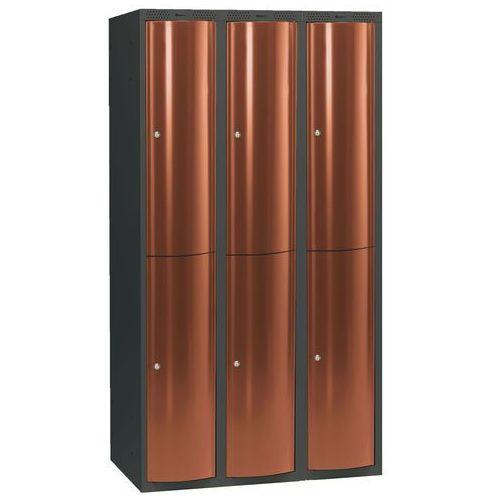 Ekskluzywne szafy osobiste 3x2 schowki w pionie Kolor drzwi: Miedziany metalizowany - produkt dostępny w AJ Produkty