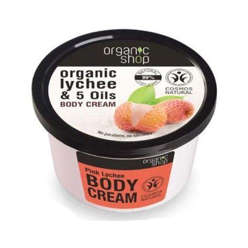 Organic Shop, krem do ciała, cera sucha i wrażliwa, Różowy Lychee, 250 ml (środek do depilacji)