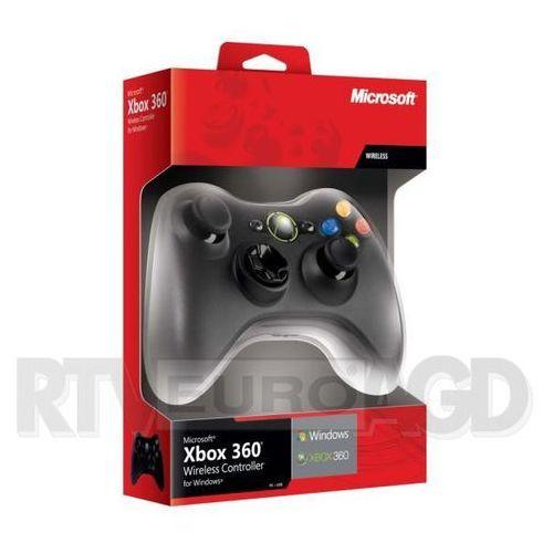 Microsoft Xbox 360 Wireless czarny (adapter do PC w zestawie) nowa wersja ze sklepu RTV EURO AGD