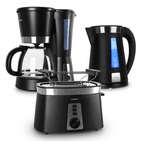 Klarstein Sunday Morning Zestaw śniadaniowy ekspres do kawy & czajnik elektryczny & toster