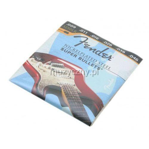 Fender 3250lr nickel plated struny do gitary elektrycznej 9-46
