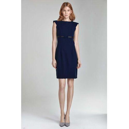 9f3dd475a9 Granatowa sukienka koktajlowa z kokardką marki Nife 149