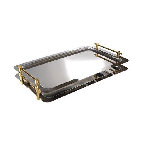 Taca prostokątna do serwowania z uchwytami w kolorze złota gn 1/1 | 530x325mm marki Aps