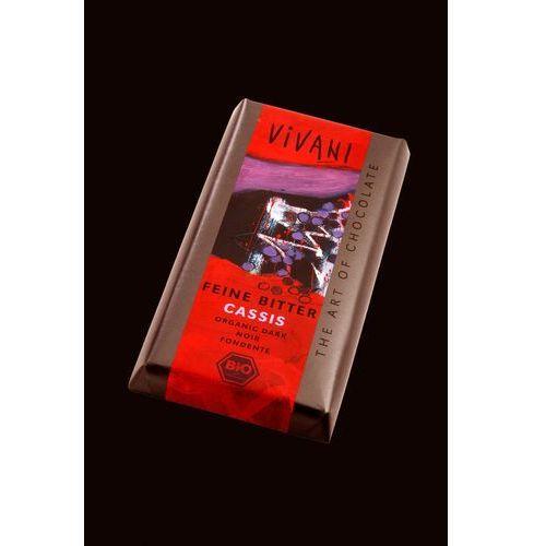 Vivani : czekolada gorzka z nadzieniem z czarnej porzeczki bio - 100 g
