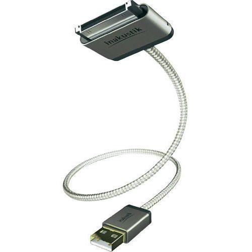 Kabel usb 2.0, , do ipoda, iphone'a, ipada, 2 m, biały wyprodukowany przez Inakustik
