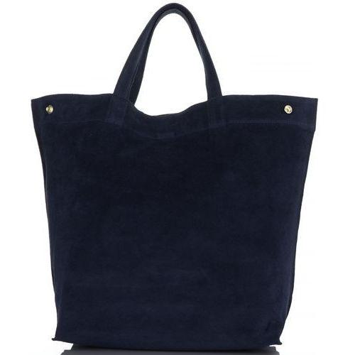 56f13b472845f Torebki skórzane włoski shopperbag w rozmiarze xl firmy granatowe (kolory)  marki Vera pelle 169