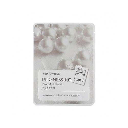 Pureness 100 Pearl Mask Sheet Brightening odżywcza maska do twarzy z wyciągiem z pereł 21ml, TONMA2015