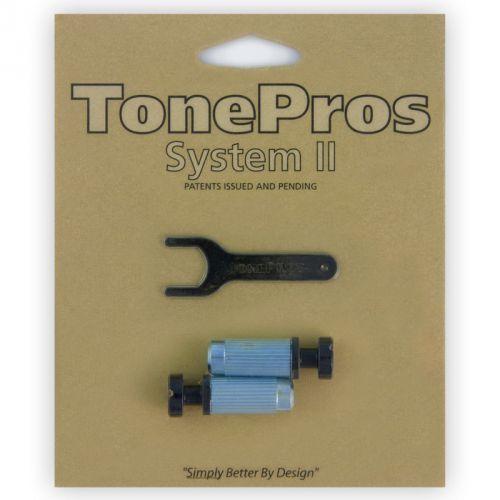 Tonepros vbm1-b - g-style locking studs, części mostka do gitary, czarne