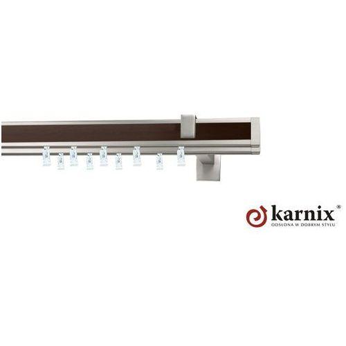 Karnisz apartamentowy AVENO podwójny 31x13/31x13mm Malibu Chrom mat - wenge - oferta [35544576c7c5941c]