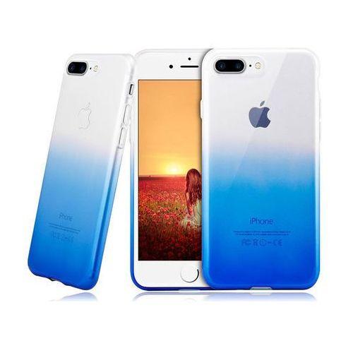 Etui Alogy ombre case Apple iPhone 7 Plus / 8 Plus niebieskie - Niebieski, kolor niebieski